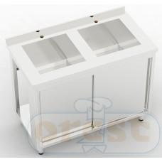 Stoly z szafka Orest Stół ze stali nierdzewnej CSL-2.1-О2S