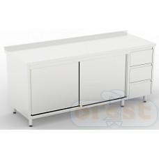 Stoly z szafka Orest Stół z szafką i szuflady CSL-2.2-C3DR