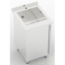 Stoly z szafka Orest Stół ze zlewem jednokomorowym i szafką CSW-1.1-CS