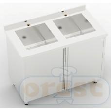 Stoly z szafka Orest Stół ze zlewem dwukomorowym CSW-2.1-C2S