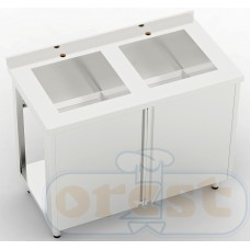 Stoly z szafka Orest Stół ze zlewem dwukomorowym CSL-2.1-O2S