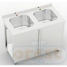 Stoly z szafka Orest Stół ze zlewem dwukomorowym CSW-2.1-O2SP