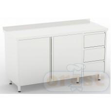 Stoly z szafka Orest Stół z szafka i  szufladami CSW-2.2-C3DR