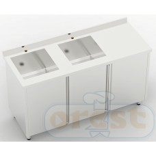 Stoly z szafka Orest Stół ze zlewem dwukomorowym CSW-3.1-С2S