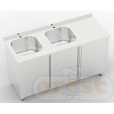 Stoly z szafka Orest Stół ze zlewem dwukomorowym z szafka CSW-3.1-С2SP