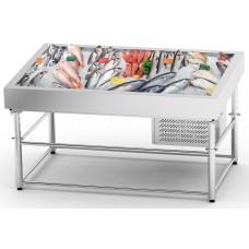Stół do ekspozycji ryb w lodzie  SDIC-1.8/1.0